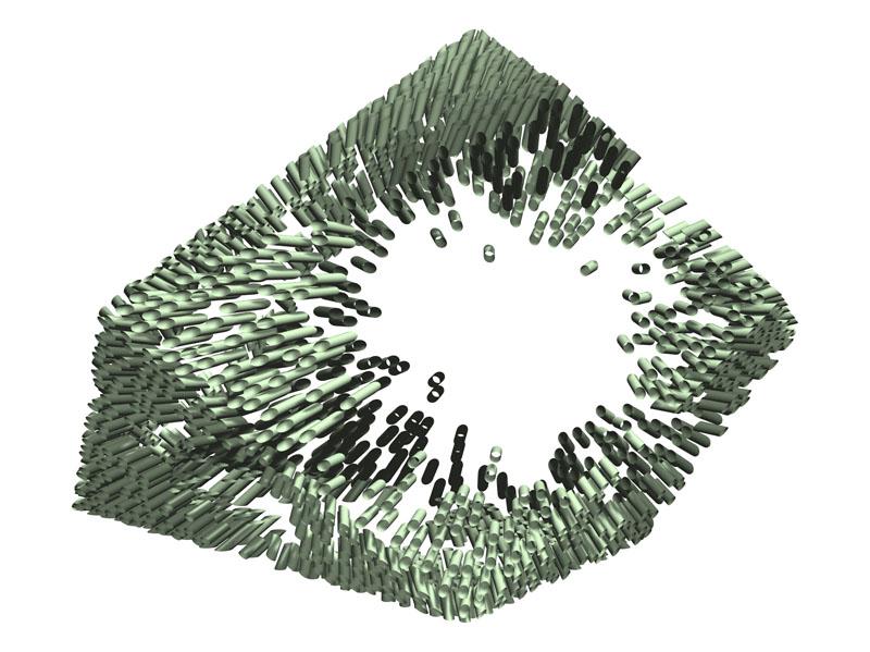 Die Visualisierung eines Körpers nur durch die Lochwangen.
