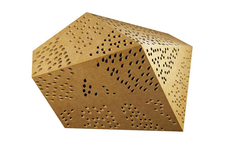 Modell eines perforierten Körpers: Jedes Loch erhält seine gezielte Auslenkung.