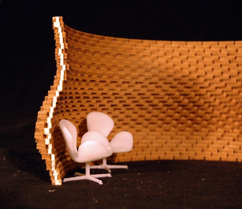 Modell eines Wandentwurfs
