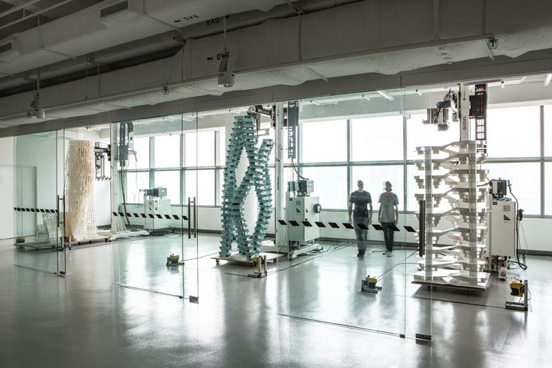 Alle drei finalen Modelle in der Roboter Anlage, Ende Oktober 2013.