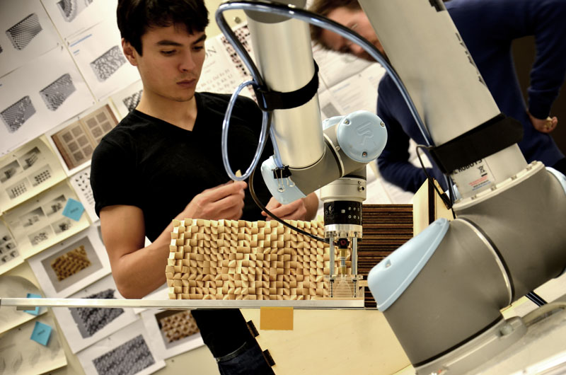 Robotic fabrication of the final models