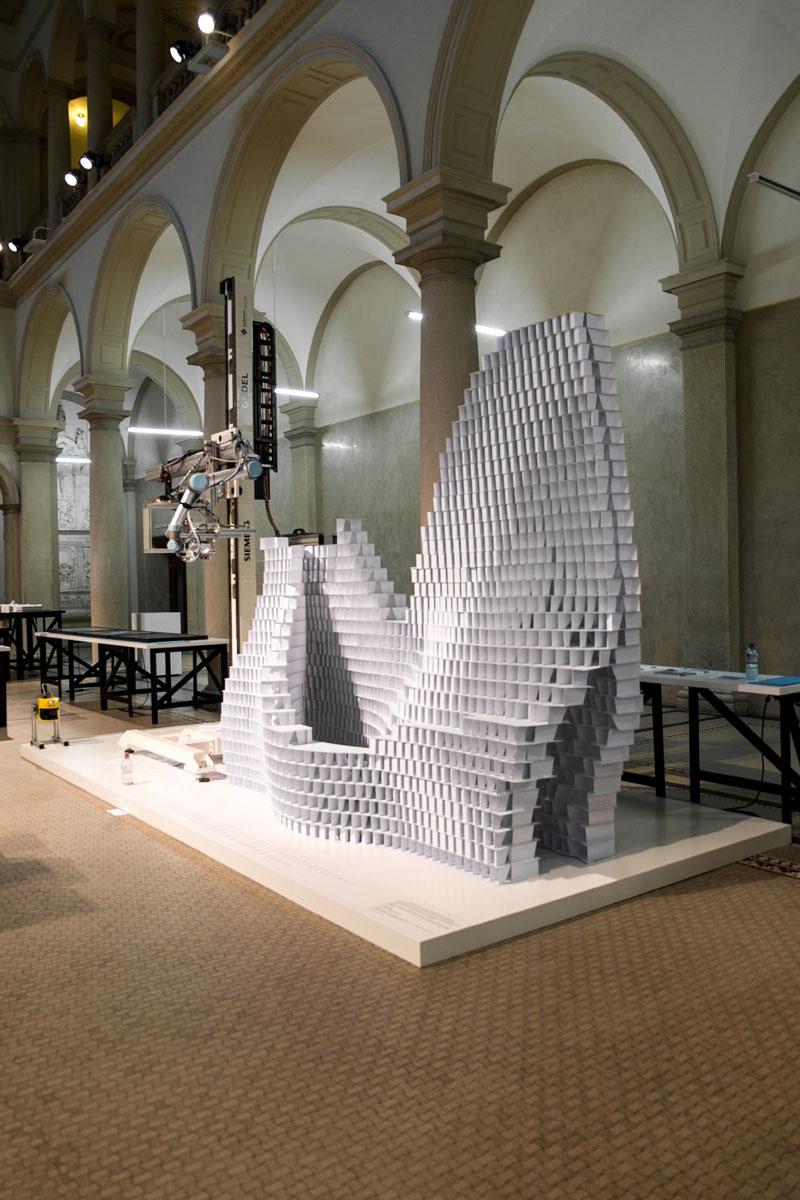 Die finale Installation im ETH  Hauptgebaeude.