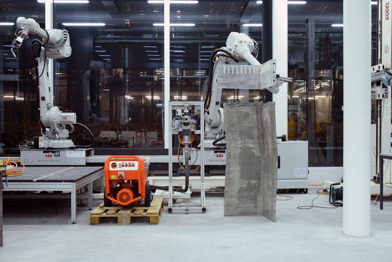 Herstellungsaufbau für dünne gefaltete Betonelemente mit nicht-standardisierte Geometrien