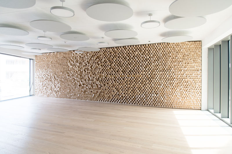 Acoustic Wall in the Cafeteria of Baser & Hofmann