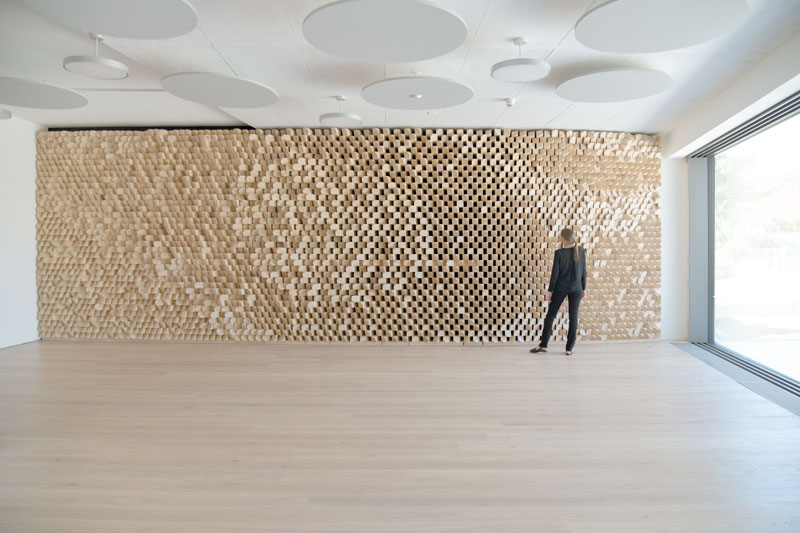 Perspective of Acoustic Wall A in the dinning area of Basler & Hofmann