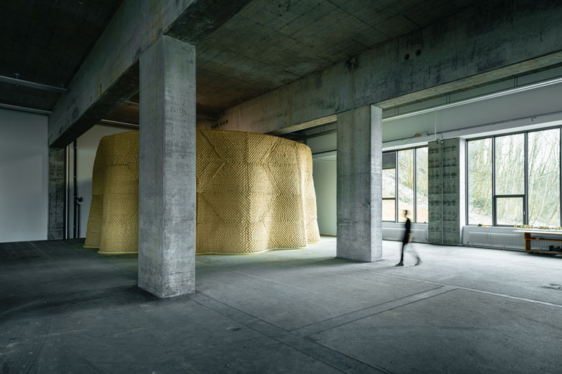 Clay Rotunda, SE MUSICLAB, Bern, 2020-2021(c) Gramazio Kohler Research, ETH Zürich. Photo: Michael Lyrenmann