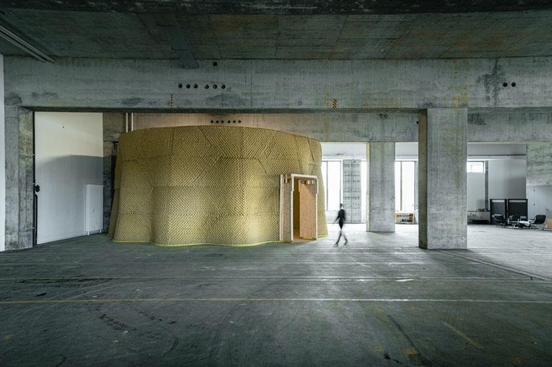 Clay Rotunda, SE MUSICLAB, Bern, 2020-2021 (c) Gramazio Kohler Research, ETH Zürich. Photo: Michael Lyrenmann