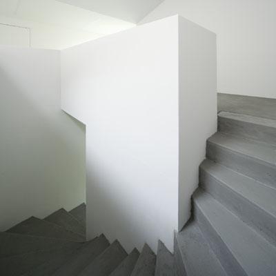Treppe zu den Aufenthaltsräumen